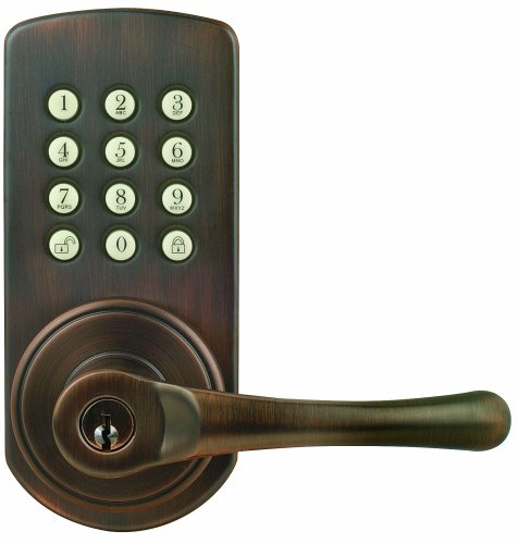 Morning Industry Pakl-01Rob Keypad Lever Door Lock, Right-Hand, Oil Rubbed Bronze