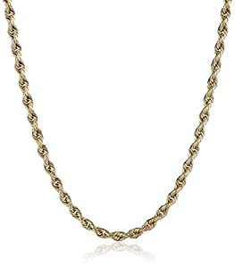 Klassics 10k Yellow Gold 2.0mm Hollow Rope Chain Necklace, 16""
