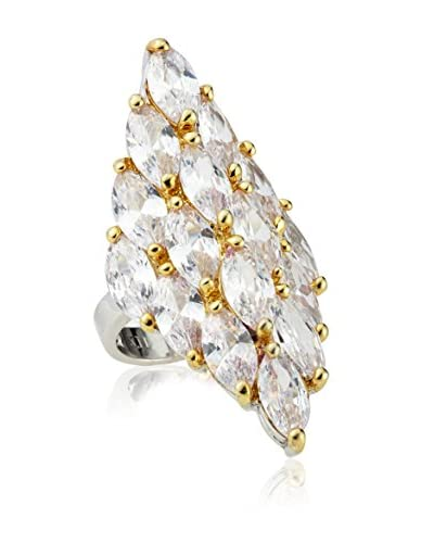 CZ by Kenneth Jay Lane KR165 2TONE Marquis Cz Statement Ring