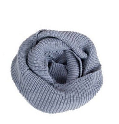 Christmas Unisex Winter Soft Knit Cowl Neck Infinity Warmer Long Scarf Shawl Wrap Light Grey