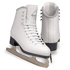 Jackson Glacier Ice Skates - GS351 Girls White Figure Ice Skates by Jackson