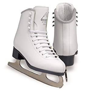 Jackson Glacier Ice Skates - GS351 Girls White Figure Ice Skates by Jackson