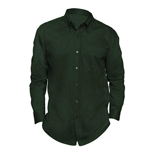 SOLS - Camicia Maniche Lunghe 100% Cotone - Uomo (XXL) (Verde bottiglia)