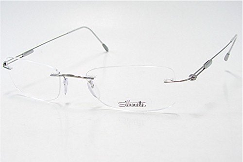 SILHOUETTE Chassis 7534 Titan Next Generation III 6075 Silver Optical Eyeglasses Frame (Lens:49 Bridge:19 Temple:145)