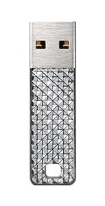 SanDisk Cruzer Facet 8GB USB 2.0 Flash Drive, Silver- SDCZ55-008G-B35S