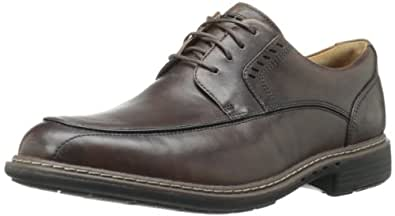 Clarks Men's UN Rage Oxford,Brown Leather,7 M US