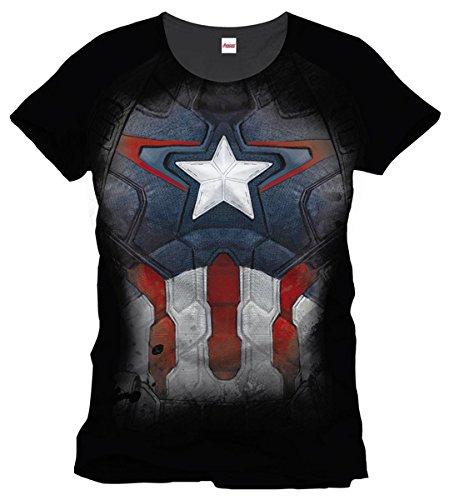 Captain America Maglietta Maglia T Shirt Captain Suit Size XL CODI
