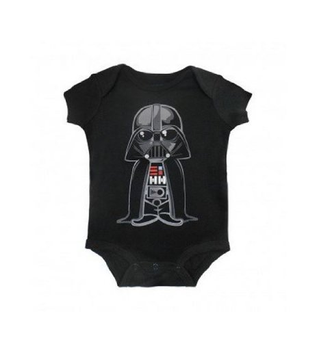 Star Wars Cute Darth Vader Baby Creeper Romper Snapsuit (Small (0-6 Months), Black)