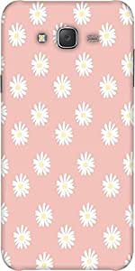 Snoogg Pink Flower Designer Protective Back Case Cover For Samsung J7