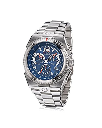 Sector Men's Silver/Blue Stainless Steel Watch