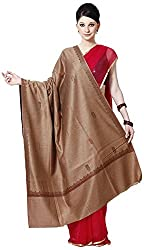 Shawls Of Kashmiri Women's Shawl (Brown, L)