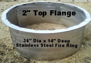 Amazon Com 36 Quot Stainless Steel Fire Pit 3 16 Quot Thick 2