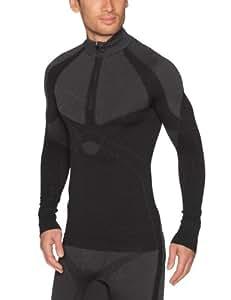 Craft Sous-vêtement chaud col officier zippé manches longues homme Noir/Fer S