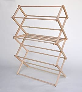 wooden rack clothes dryer