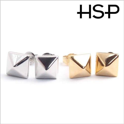 316 l stainless steel pyramid Stud Earrings 1 pair gold men women