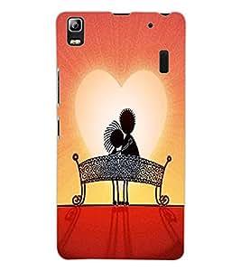 ColourCraft Love Couple Design Back Case Cover for LENOVO A7000 TURBO
