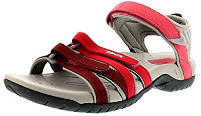 Teva womens Teva Ladies Tirra Walking Hiking Sandals 1004266 Red Red Gradient UK Size 8 (EU 41, US 10)