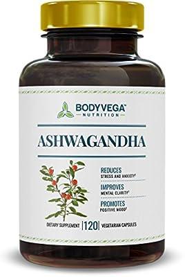 Ashwagandha, 120 Vegetarian Capsules, 800 Milligrams per Serving, by BodyVega