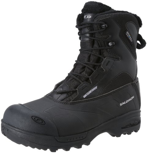 Salomon Men's Toundra Mid WP Snow Boot,Black,8 M US