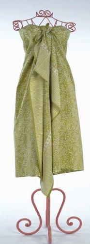 Apple Green Bracken Leaves Batik Sarong