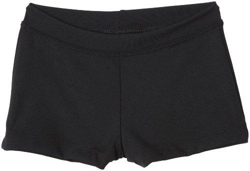 Capezio Little Girls' Boy Cut Low Rise Short,Black,S (4-6) Cheer Shorts