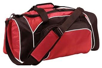 Two-Way Zipper League Duffle Bag, Black/Light Gold/White, One Size