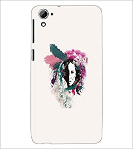 PrintDhaba Abstract Design D-5570 Back Case Cover for HTC DESIRE 826 (Multi-Coloured)