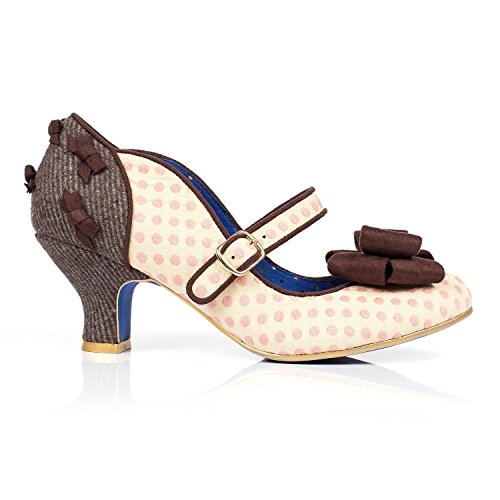 Poetic Licence Miss Cosa Donna A Pois Tacchi Stiletto Piccolo Retro Vintage Anni '40 Scarpe con Esclusivo Starlet Borsa Shopper Tote Bag - Miss Cosa Rosa, 4 UK / 37 EU