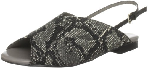 KG by Kurt Geiger Women's Milo 1 Snake Canvas Open Toe Flats 2798525869 6 UK