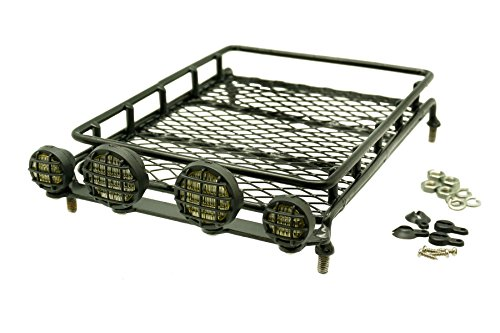 gadget-career-metal-roof-rack-luggage-storage-basket-with-light-housings-for-rc