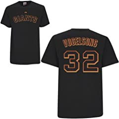 Ryan Vogelsong San Francisco Giants Black Player T-Shirt by Majestic by Majestic