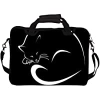 "Snoogg Sleeping Cat Minimalistic 14"" 14.5"" 14.6"" Inch Laptop Notebook SlipCase With Shoulder Strap Handle Sleeve..."