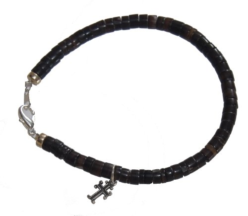 Men's Cross Shell Bead Bracelet - Cross Bracelet for Him