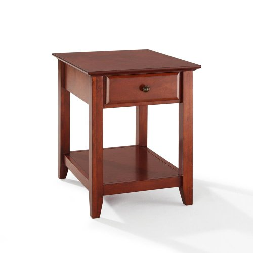 Cheap End Table With Storage Drawer Classic Cherry (CF1301-CH)