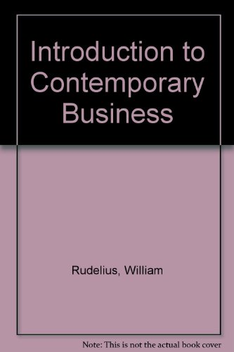 Introduction to Contemporary Business