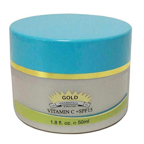 Gold Cosmetics & Skin Care Vitamin C + Spf 15 - Best Vitamin C Cream For Face Contains Spf 15 Sunblock Sunscreen