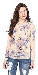 Harpa Women's Body Blouse Shirt (GR2620-Peach_Large)