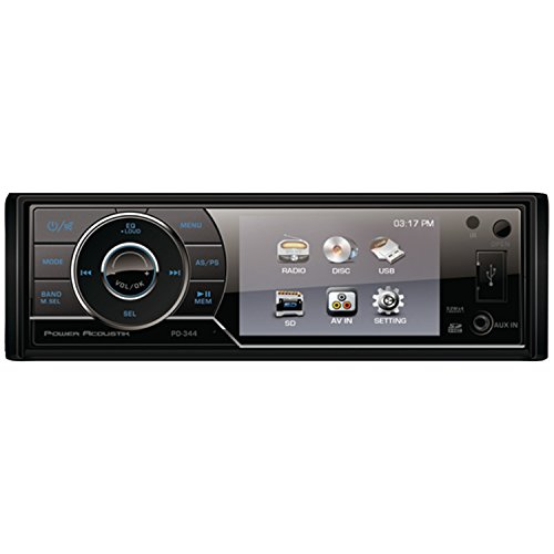 Power Acoustik Pd-344 3.4-Inch Lcd Touchscreen Single-Din In-Dash Dvd Receiver With Detachable Face