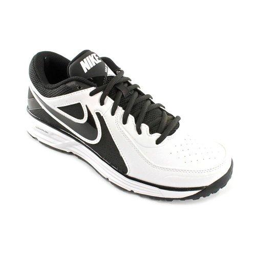 Nike Men'S Lunar Mvp Pregame White/Black/White Training Shoe 12 Men Us front-1039505