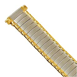 Watch Band Expansion Metal Ladies Band Two Tone fits sizes 12mm to 14mm