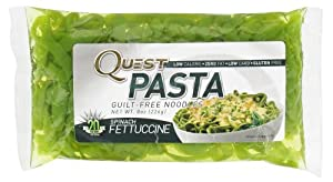 Quest Pasta Spinach Fettuccine - Low Carb Gluten Free Noodles
