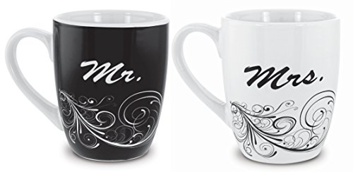 KOVOT Mr. and Mrs. Coffee Mug Set - Each Mug Holds 12 Ounces (Mr And Mrs Coffee Mugs compare prices)
