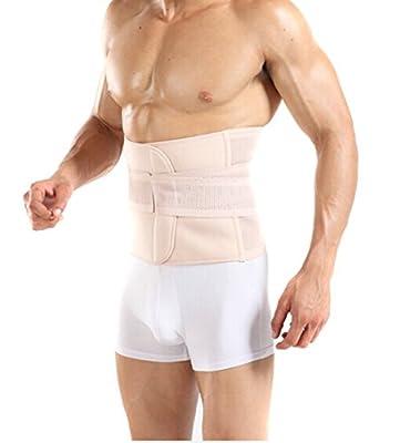 Butterme verstellbare Taille Trimmer-Gurt, Extra Wide Bauchstütze Binder Belly Wrap Abnehmen Brace Gurt für Postpartum, Leistenbruch, C-Abschnitt Erholung - Mühe Taille Abnehmen für Männer und Frauen