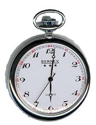 Bernex Pocket Watch GB21202 Rhodium Plated Open Face