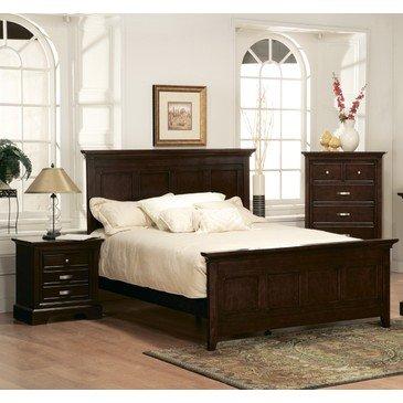 Homelegance Glamour 2 Piece Panel Bedroom Set in Espresso