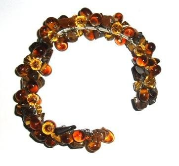 Tribe Brown flexible bead bracelet (one size fits all)