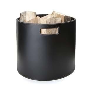 edler holzkorb korb f r brennholz kamin ofen wollkorb. Black Bedroom Furniture Sets. Home Design Ideas
