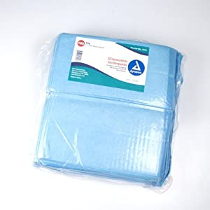 Dynarex Disposable Underpad, 17 in. x 24 in., Pack of 3 from Dynarex