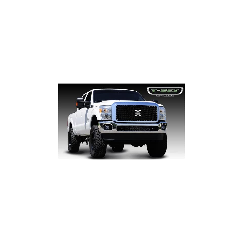 2011 2012 Ford Superduty Black X Metal Large Mesh Insert Grille Automotive