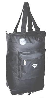 Hoppa, 1 yr warranty, Wheeled Hand Luggage Lightweight Flight Bag Carry-On Luggage on Wheels (Navy)